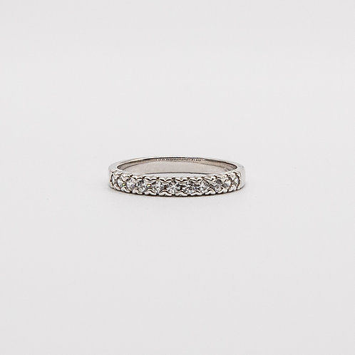 Wedding Ring in White Gold with Zircons