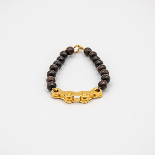 Altair Bracelet Transformer Model in Gold with Wooden Beads