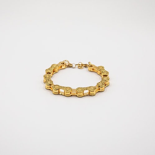 Altair Bracelet Classic Model in 18k Gold with Golden Glitters