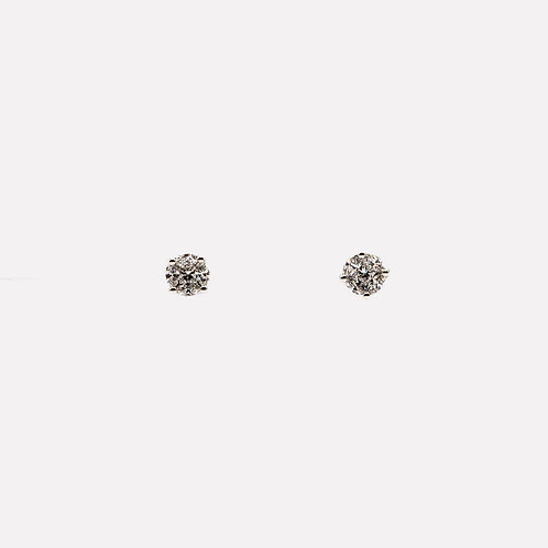 Illusion Setting Diamond Earrings