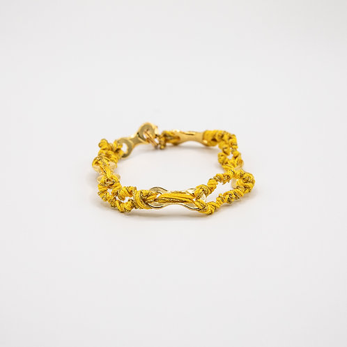 Altair Bracelet Summer Model in 18k Gold with Yellow Strings