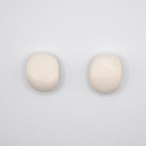 Monies Bone Earrings with Clip Closure