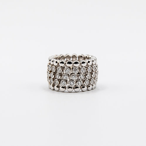 Rusconi Two-Way Ring/Bracelet in White Gold with Diamonds
