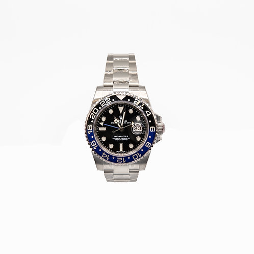 ROLEX GMT-MASTER II Batman, Oystersteel, 40mm (second hand)