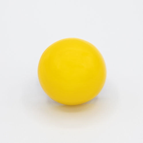 Monies Genuine Leather Ring with Yellow Polycarbonate Dome