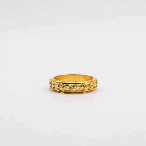Gold Ring with Etruscan Motifs