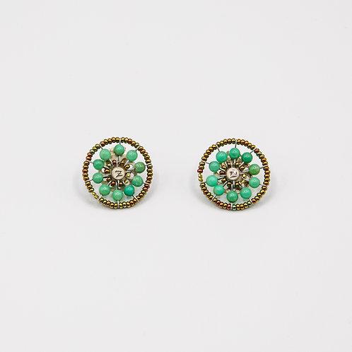 Ziio Chrysoprase Earrings with Murano Glass Beads