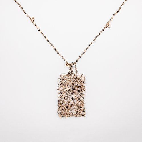 """Pagana Atelier """"Network"""" Gold-Laminated 925 Silver Necklace"""