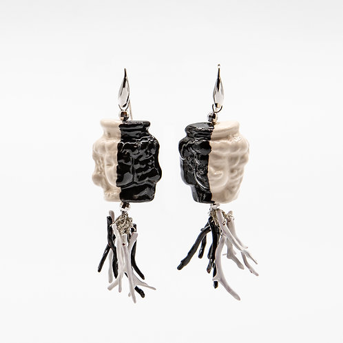 "GP ""Lui e Lei - Bianco e Nero"" (He and She - B&W) Earrings"