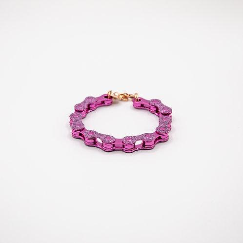 Altair Bracelet Classic Model in Purple with Purple Glitters