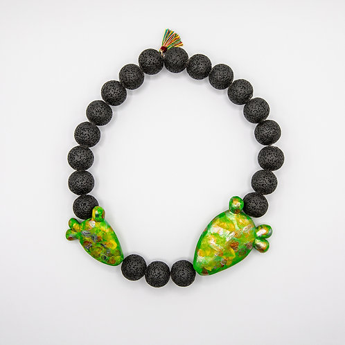 "GP ""Cactus"" Necklace of Volcanic Rocks of Mount Etna"