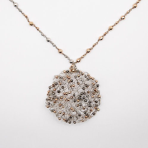 """Pagana Atelier """"Network"""" Gold-Laminated 925 Silver Long Necklace"""