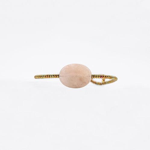 Ziio Brass Bracelet with Morganite and Murano Glass