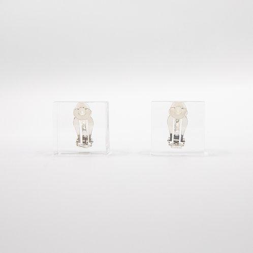 Monies Transparent Square Earrings