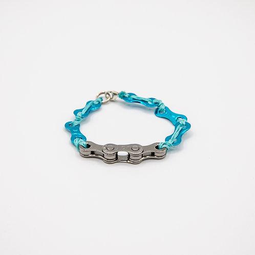 Altair Bracelet Summer Model in Iron Grey with Light Blue Strings