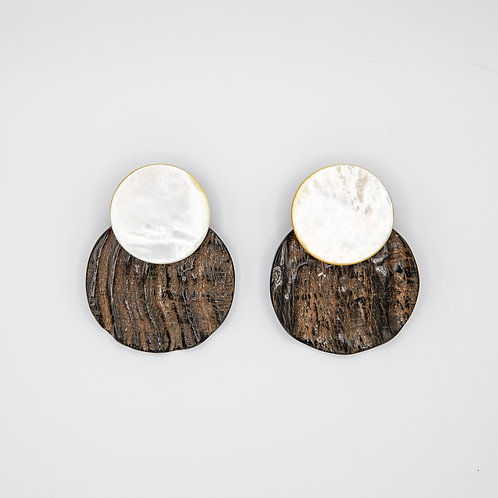 Monies Ebony Earrings with Mother of Pearl Ball Clips