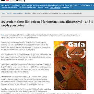 2020 - Bournemouth University news