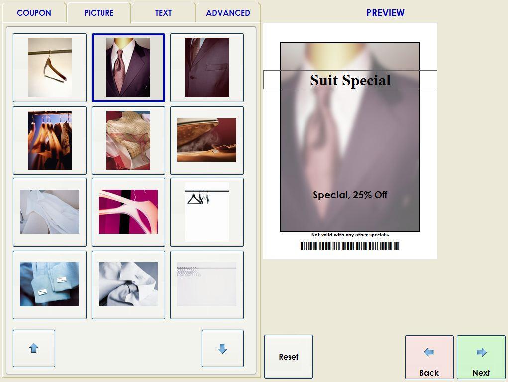 Coupon Screen