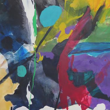 Peinture acrylique sur toile 116x89cm 2017
