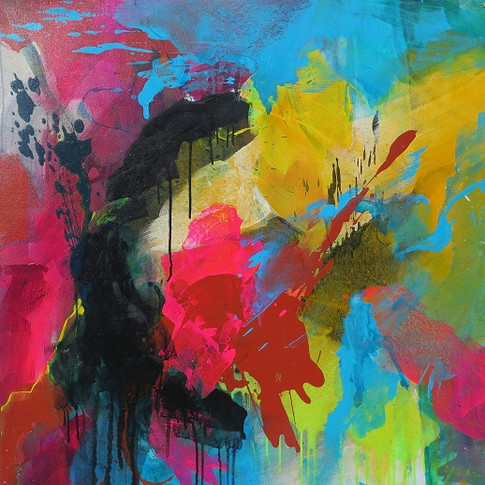 Peinture acrylique sur toile 100x100cm 2016
