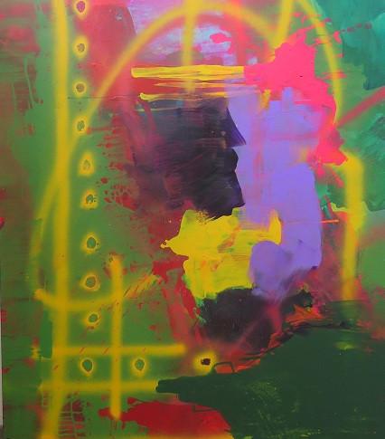 Peinture acrylique sur toile 146x114cm