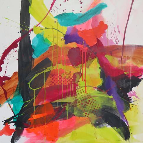 Peinture acrylique sur toile 120x120cm 2018