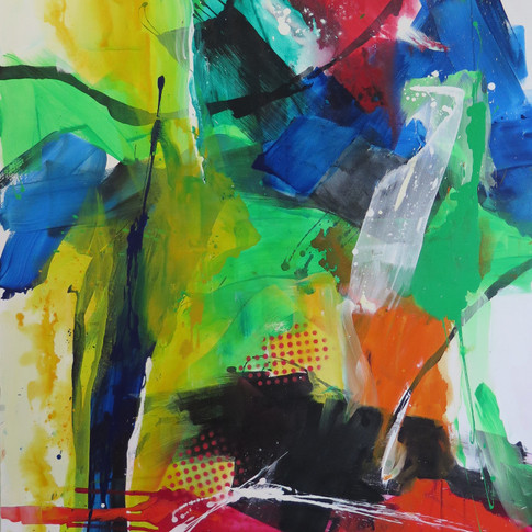 Peinture acrylioque sur toile 163x130cm 2018