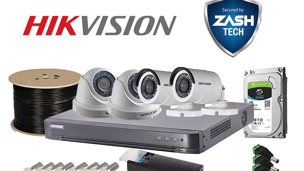 Set Hikvision 4 Channel Analog 2MP DIY
