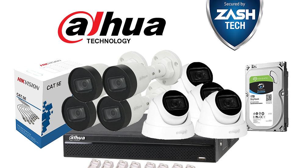 Dahua Set IP 2MP POE 8 Camera