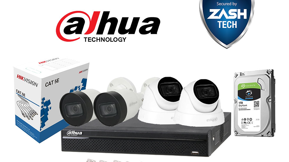 Dahua Set IP 2MP POE 4 Camera