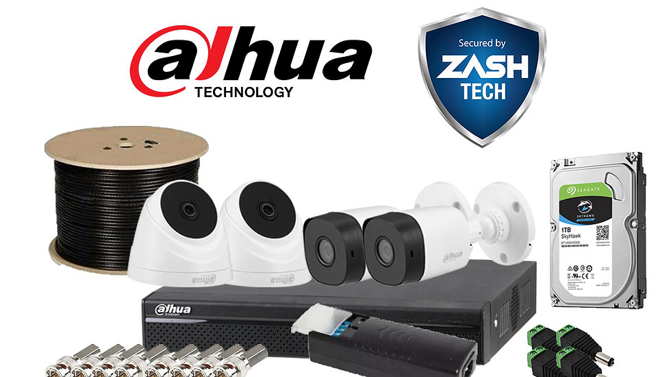 Set Dahua 4 Channel Analog 2MP DIY