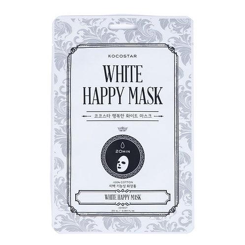 White Happy Mask