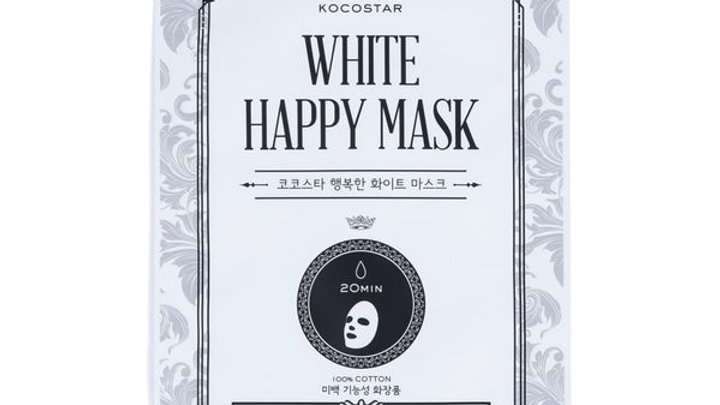 White Happy Mask