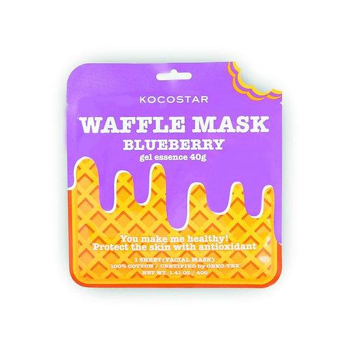 Waffle Mask Blueberry