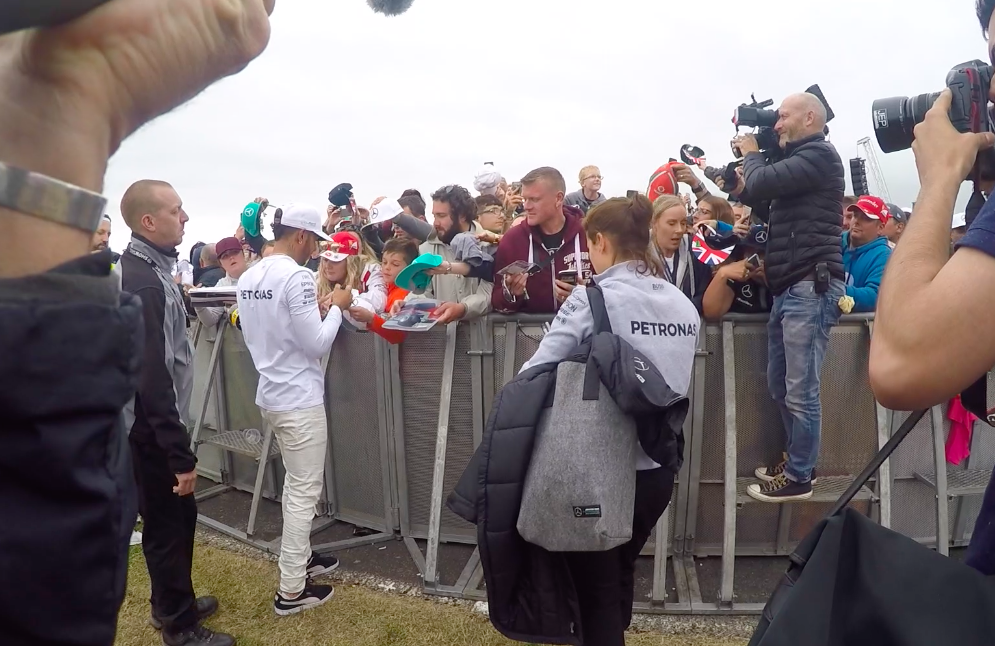 Lewis with his Fans