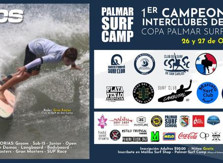 Primer Campeonato Interclubes de Surf,Copa Palmar Surf Camp Panamá 2019.