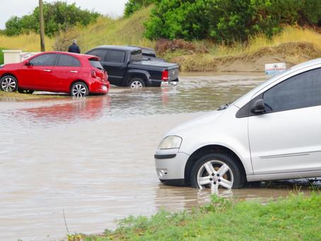 Fuerte temporal azotó la costa Atlántica de la provincia de Buenos Aires.