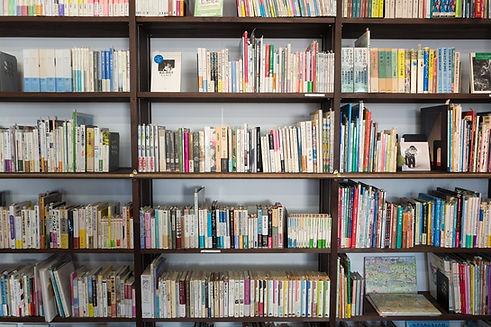 Viele Bücher in einem Bücherregal