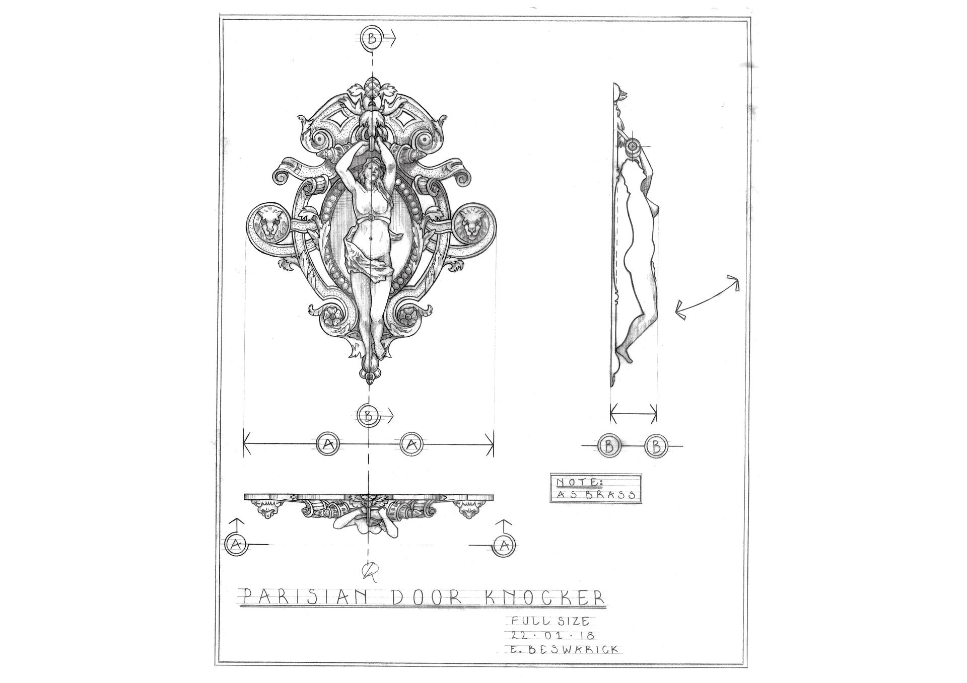 PARISIAN DOOR KNOCKER