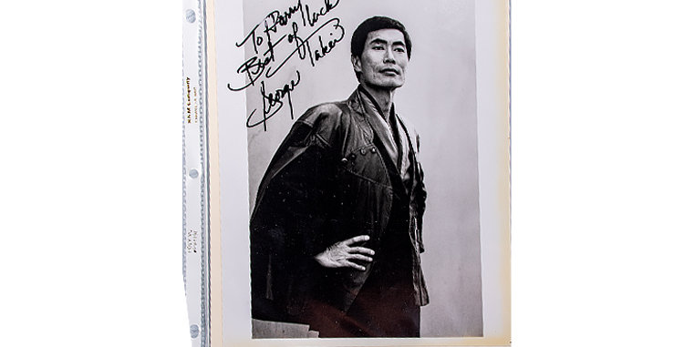 Autograph of George Takai who played Sulu