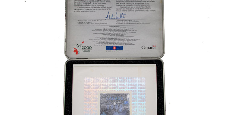 Canada Post stamp set commemorating the years 1999 and 2000.