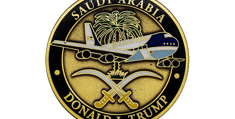 Challenge Coin President Trump Welcome to Saudi Arabia.