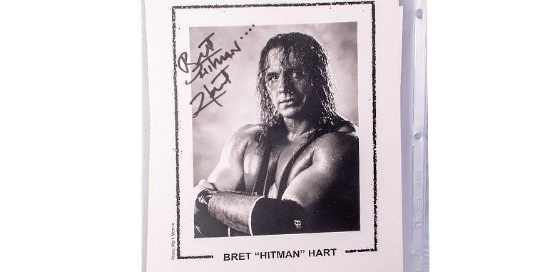Autograph of Bret Hart professtional Professional Wrestler