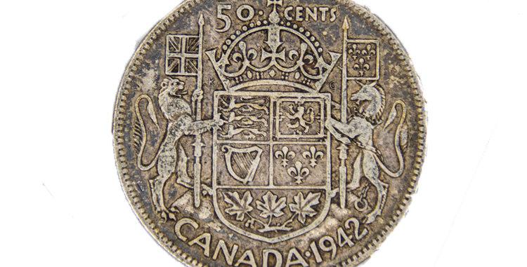 Canada 50 Cent Piece 1942