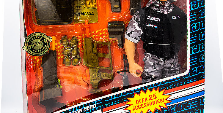 GI Joe Hall of Fame  12 Inch Rapid Fire Toys R Us Exclusive