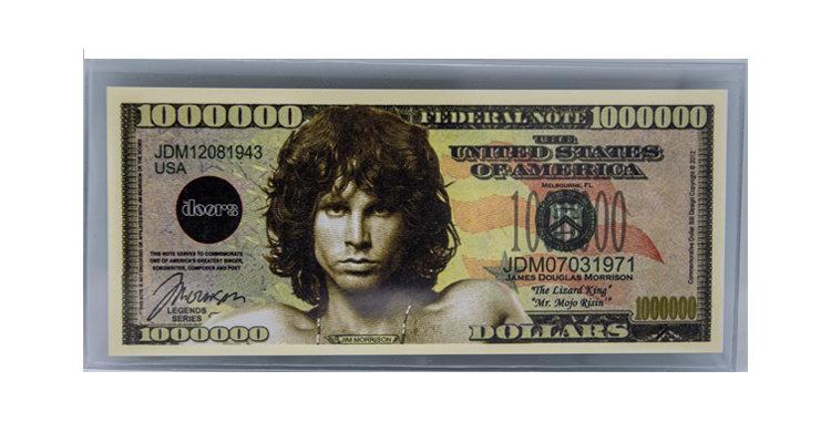 Jim Morrison Million Dollar Bill