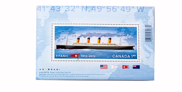 Canada Post Commemorate 100 year anniversary of the sinking of the Titan