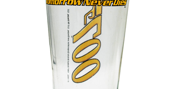 Glassware Glass James Bond 007 Tomorrow Never Dies