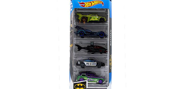 5 Pack Batman City Cockney Cab, Bassline, Batmobile, Batcopter, Ford Fusion