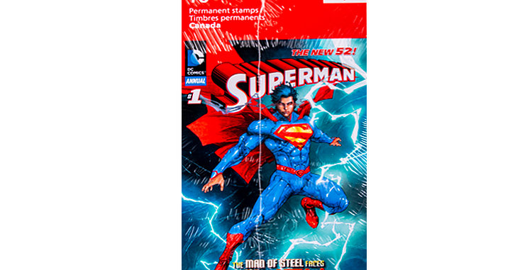 Canada Post Book of Superman Stamps